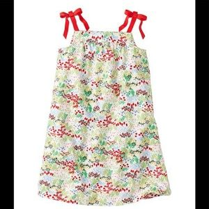 Hanna Andersson White & Red Floral Ribbon Sundress